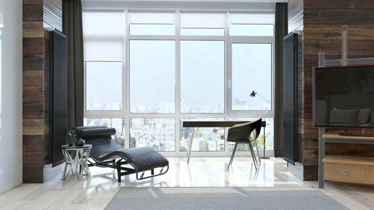 paredes interiores cristales blanco sillones