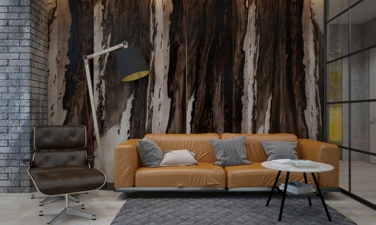 paredes interiores cristales sillones ramas