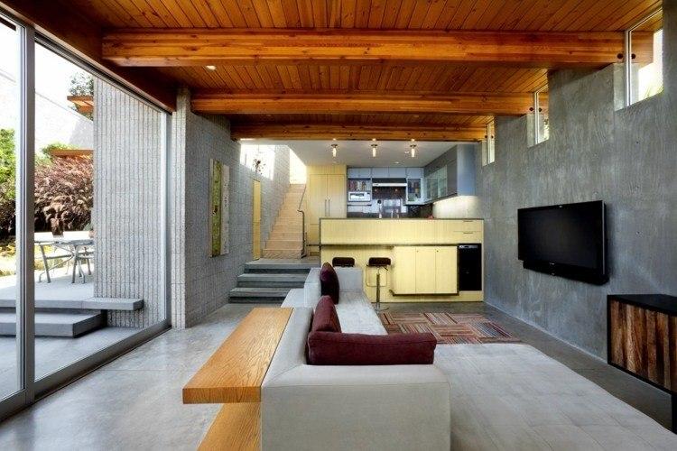 revestimiento de suelos y paredes ideas modernas On suelos de hormigon para interiores