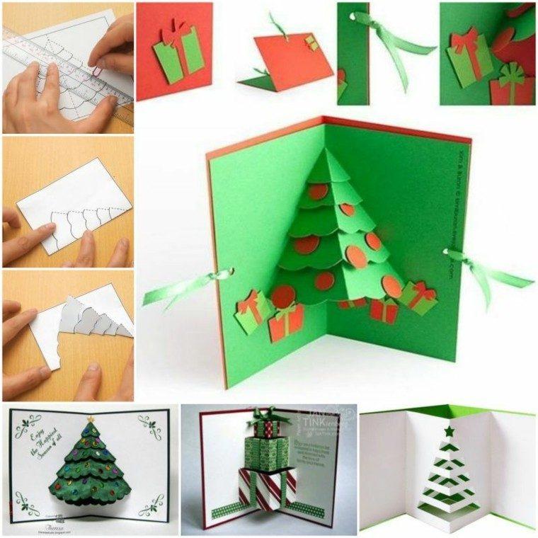 pasos hacer tarjeta navidad 3D