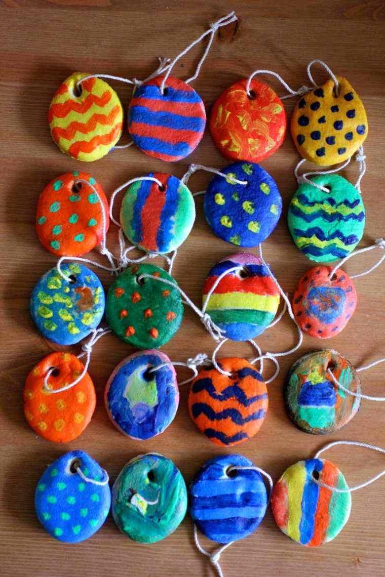 pasta de sal decoracion navidena personalizada colores vibrntes ideas