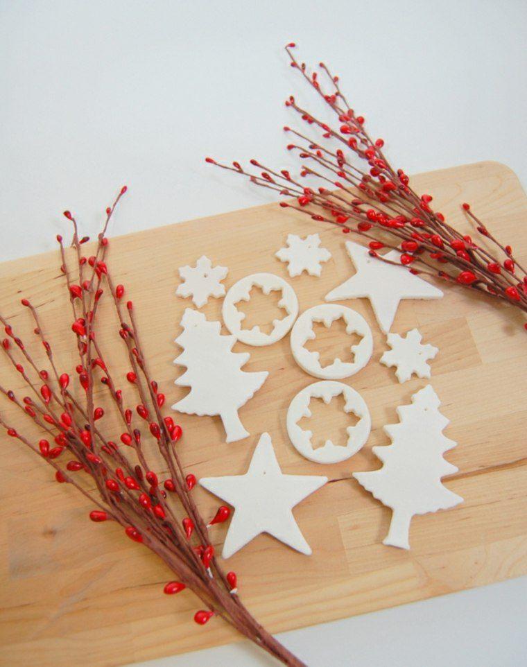 pasta de sal decoracion navidena personalizada estrellas copos ideas
