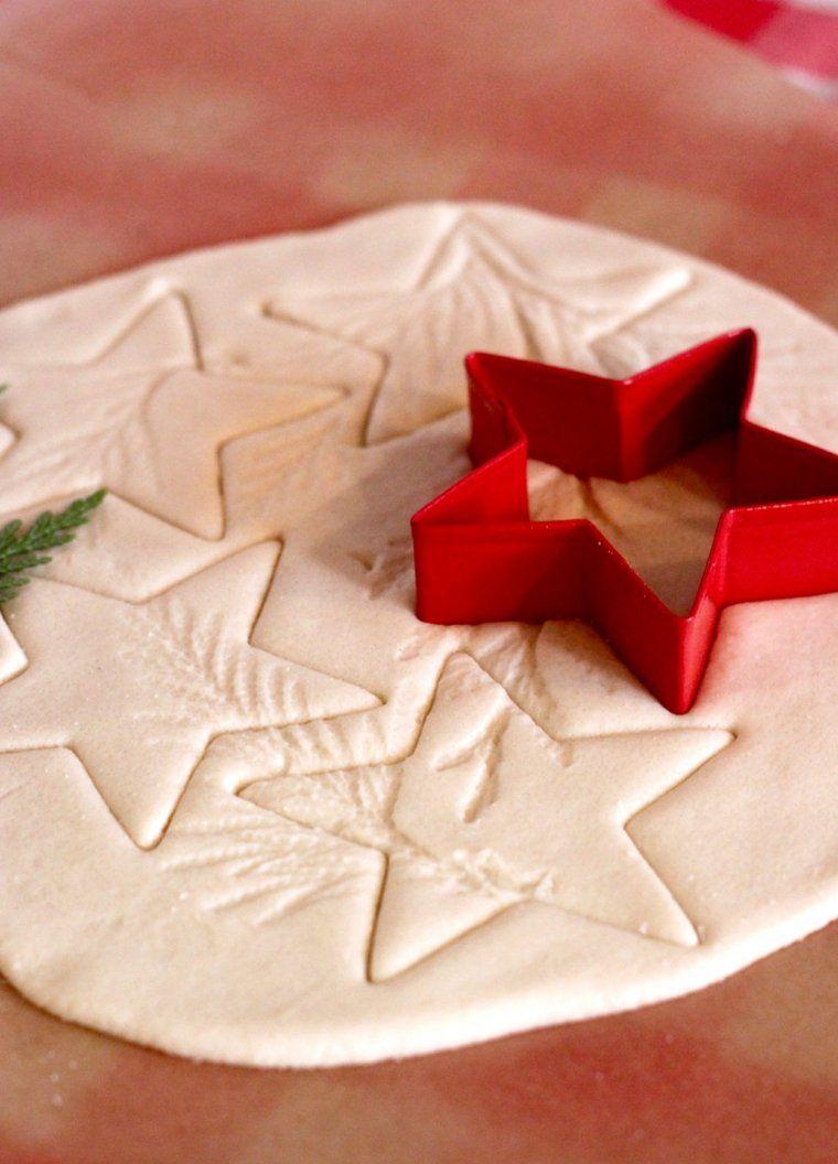 pasta de sal decoracion navidena personalizada estrellas ideas