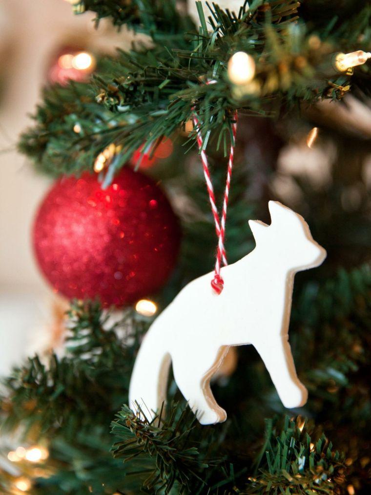 pasta de sal decoracion navidena personalizada lobo blanco ideas