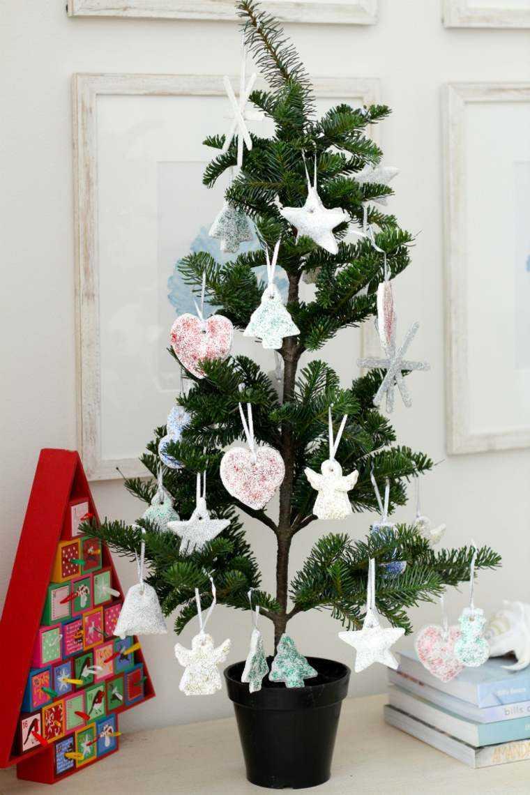 pasta sal decoracion navidena personalizada arbol pequeno ideas
