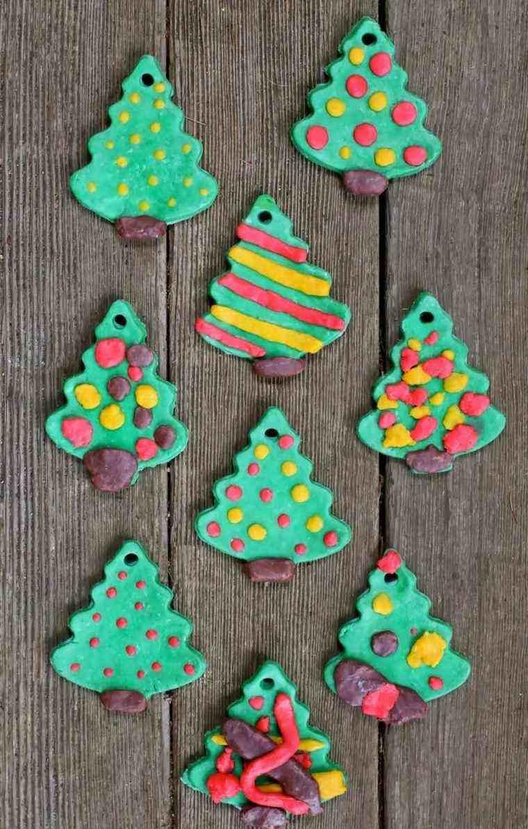 Pasta De Sal Para Hacer La Decoraci N Navide A  ~ Crismas De Navidad Hechos Por  Ninos