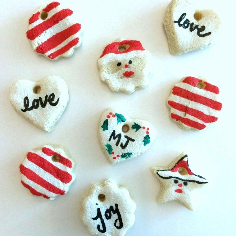 pasta sal decoracion navidena personalizada blanco rojo ideas