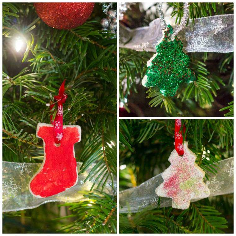 pasta sal decoracion navidena personalizada calzetin arboles ideas