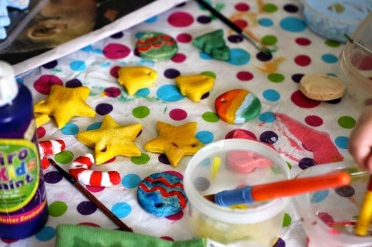 pasta sal decoracion navidena personalizada colores vibrantes ideas