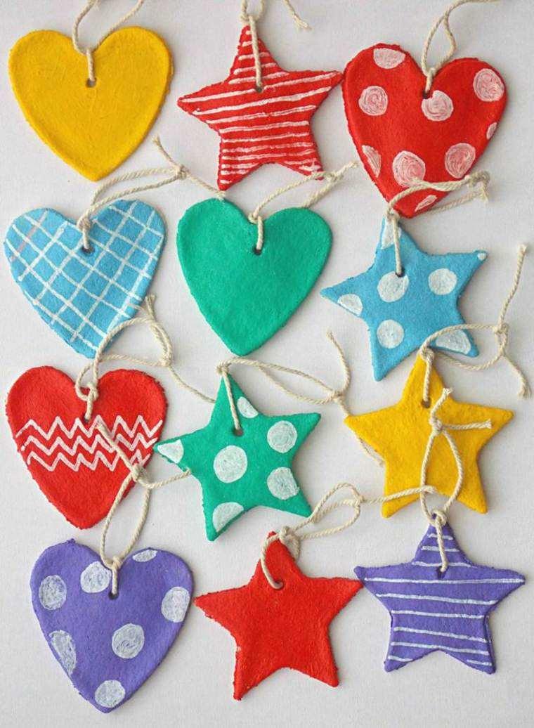 pasta sal decoracion navidena personalizada corazones colores ideas