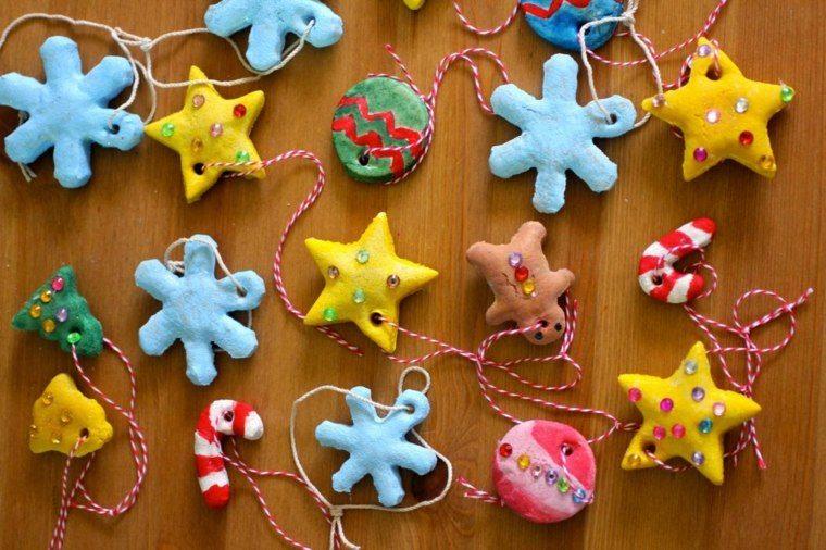 pasta sal decoracion navidena personalizada estrellas copos ideas