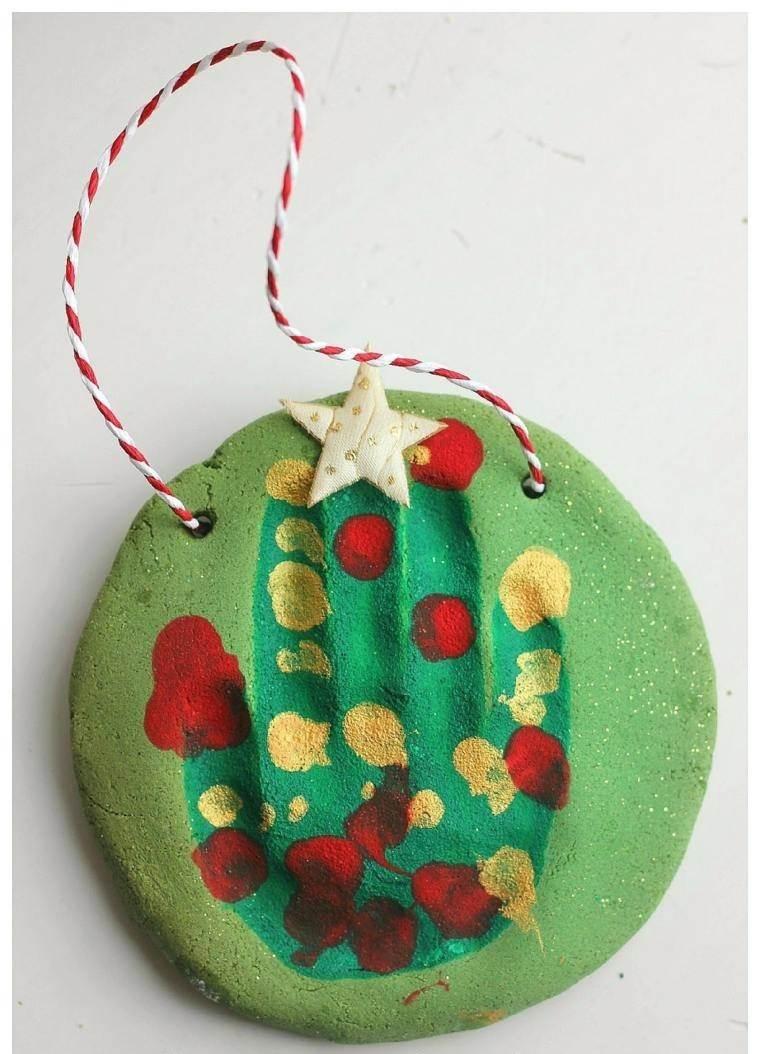pasta sal decoracion navidena personalizada mano verde ideas