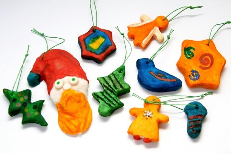 pasta sal decoracion navidena personalizada ninos decorando ideas