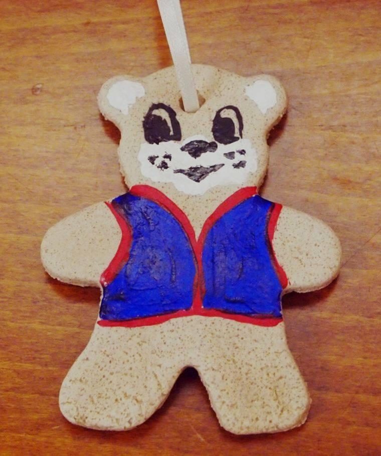 pasta sal decoracion navidena personalizada oso chaleco ideas