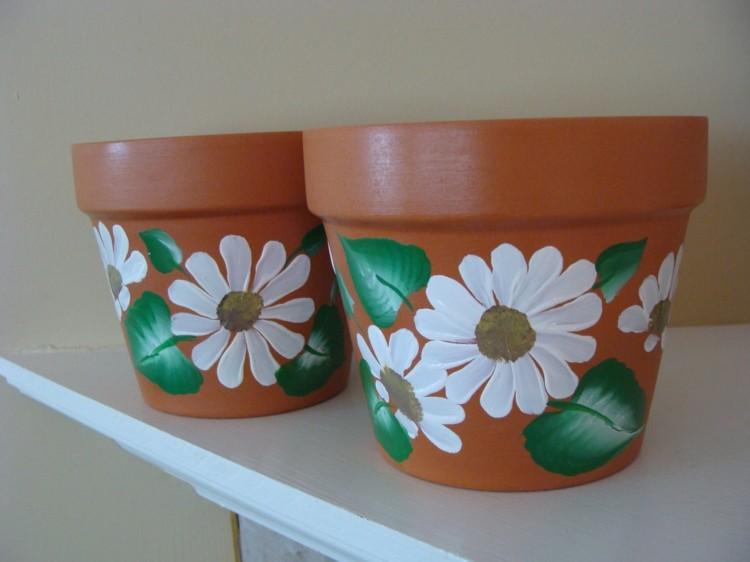 pintura manos flores ideas verde