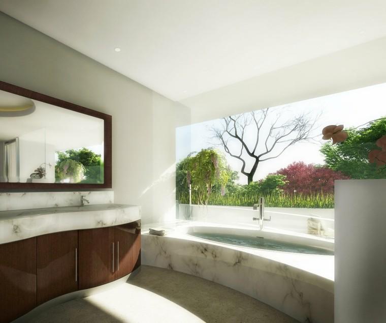 plantas salones cortinas exteriores moderno bañera