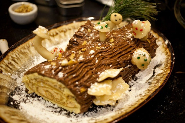 postres navideños ideas estilo platos bosque
