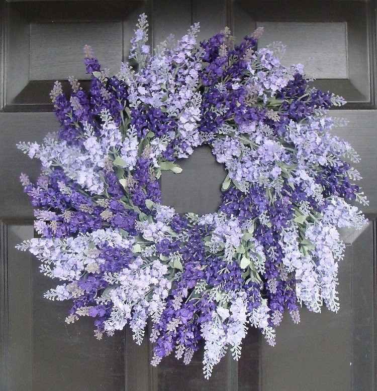primavera ideas decorativas coronas oscuro