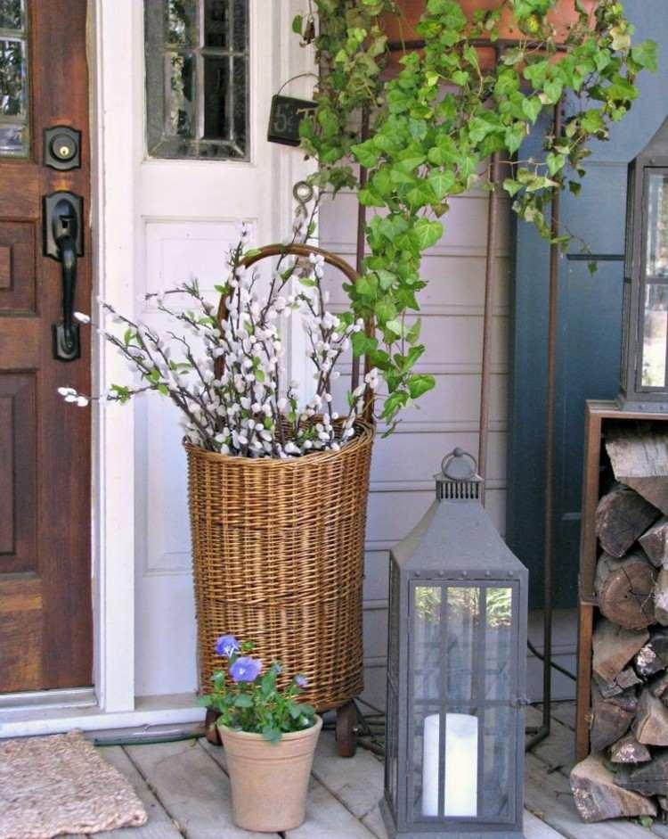 primavera ideas decorativas porche exteriores macetas