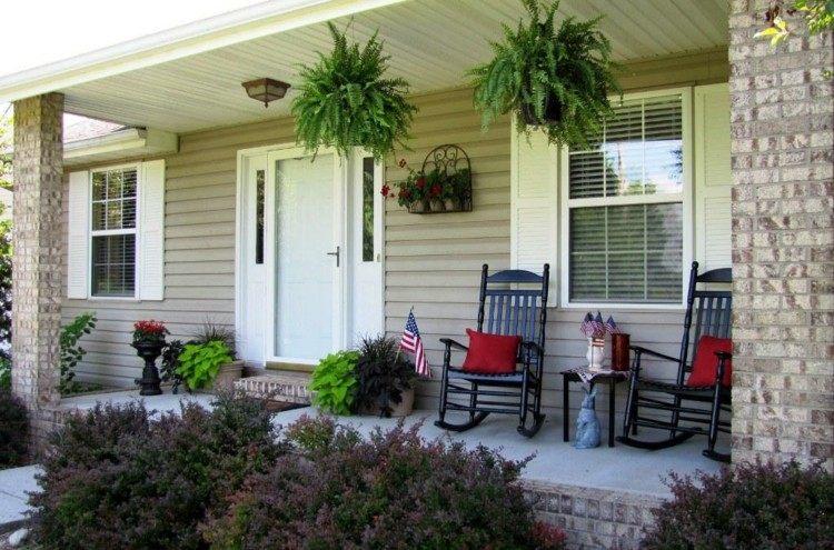 primavera ideas decorativas porche rocas rojo