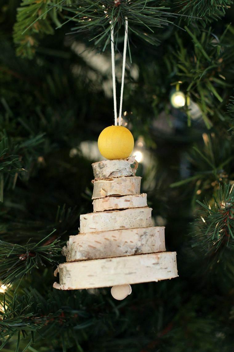 productos adornos navidenos madera arbol colgando ideas