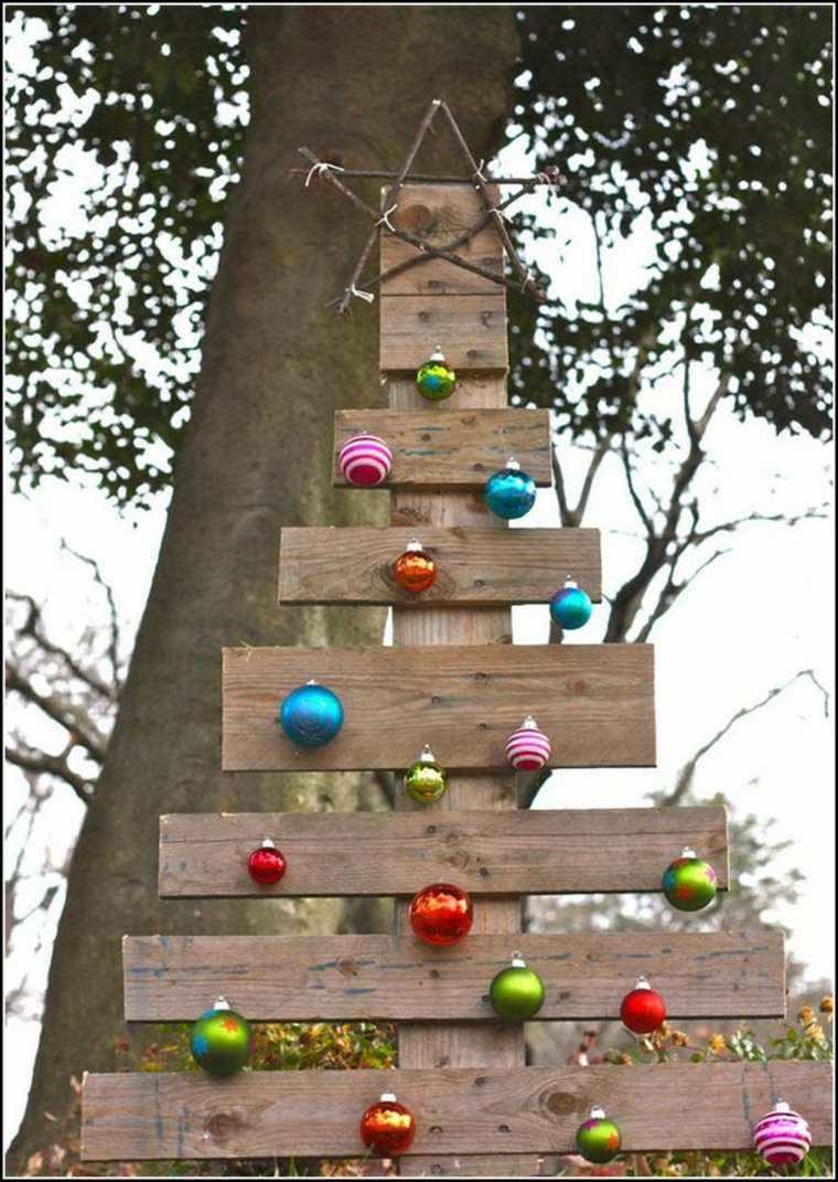 Productos ecologicos adornos de madera para el rbol - Escaleras de madera adorno ...