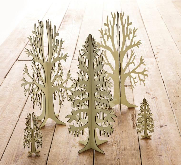 productos ecologicos adornos navidenos madera arboles preciosos ideas