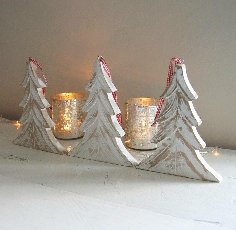 productos ecologicos adornos navidenos madera arboles velas ideas