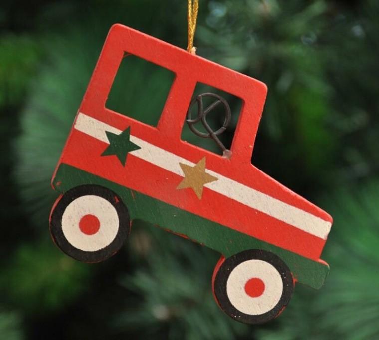 productos ecologicos adornos navidenos madera coche ideas