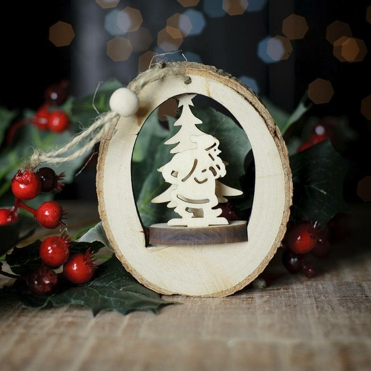 productos ecologicos adornos navidenos madera colgar ideas