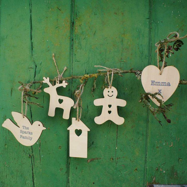 productos ecologicos adornos navidenos madera corazon casa ideas