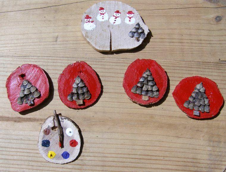 productos ecologicos adornos navidenos madera dibujos ideas