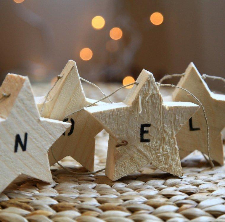 productos ecologicos adornos navidenos madera estrellas letras ideas