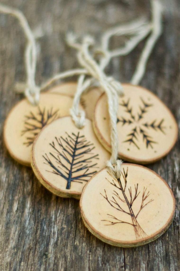 productos adornos navidenos madera monedas ideas