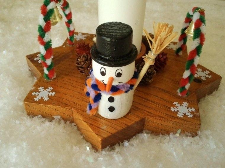 productos adornos navidenos madera muneco nieve ideas