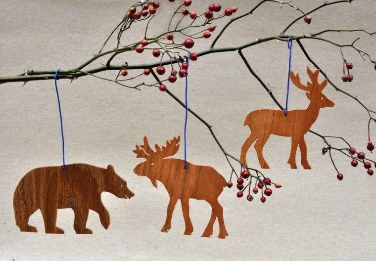 productos adornos navidenos madera oso ideas