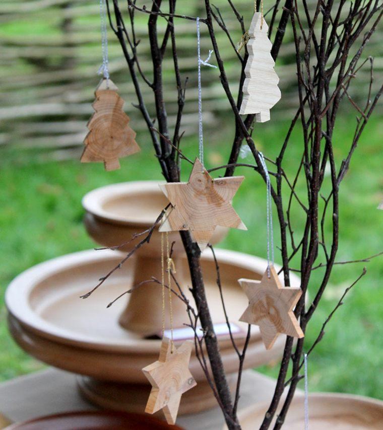 productos adornos navidenos madera pequenos ideas