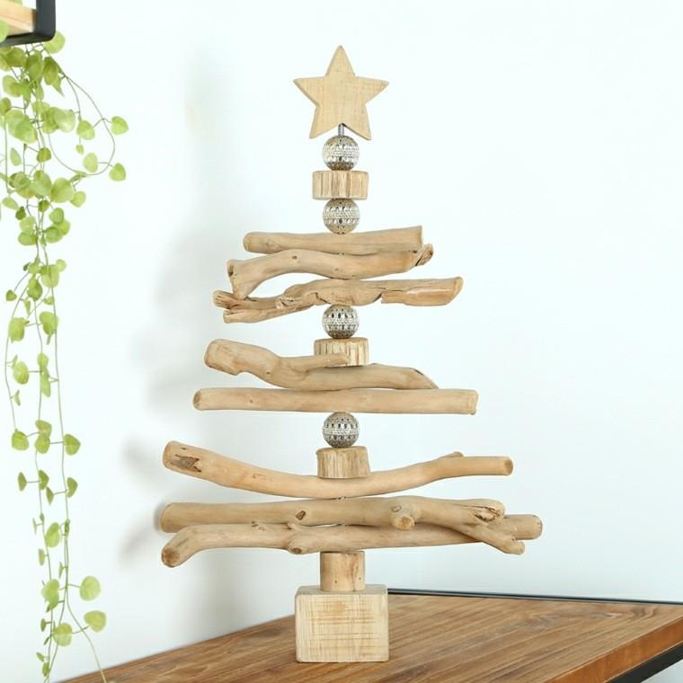 productos adornos navidenos madera ramas ideas