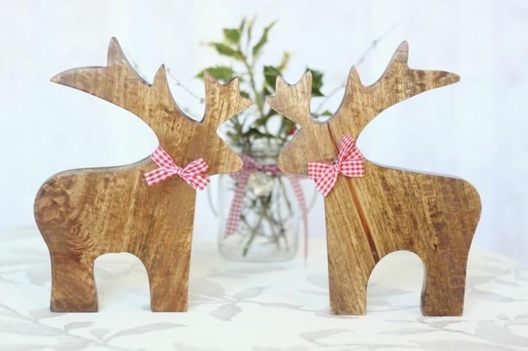 productos adornos navidenos madera renos ideas