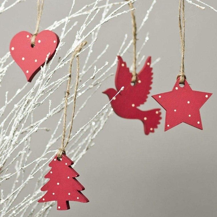 productos adornos navidenos madera rojos ideas