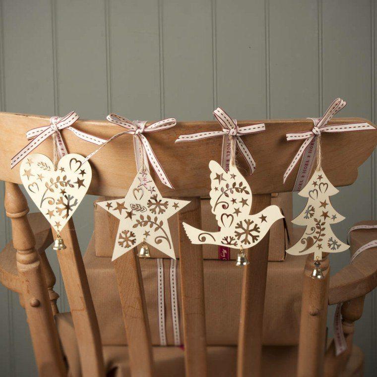 productos adornos navidenos madera silla ideas