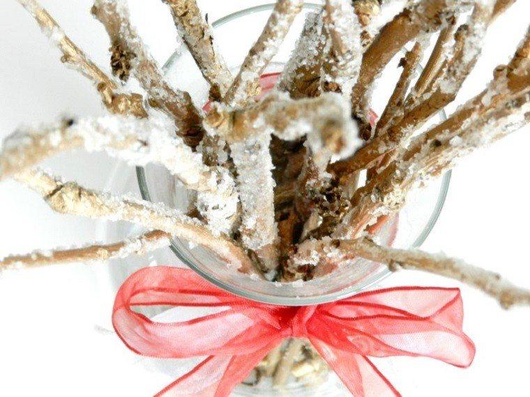 ramas azucar tarro cristal decoracion casa ideas