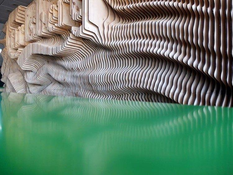 reflejo estilo salon detalles madera