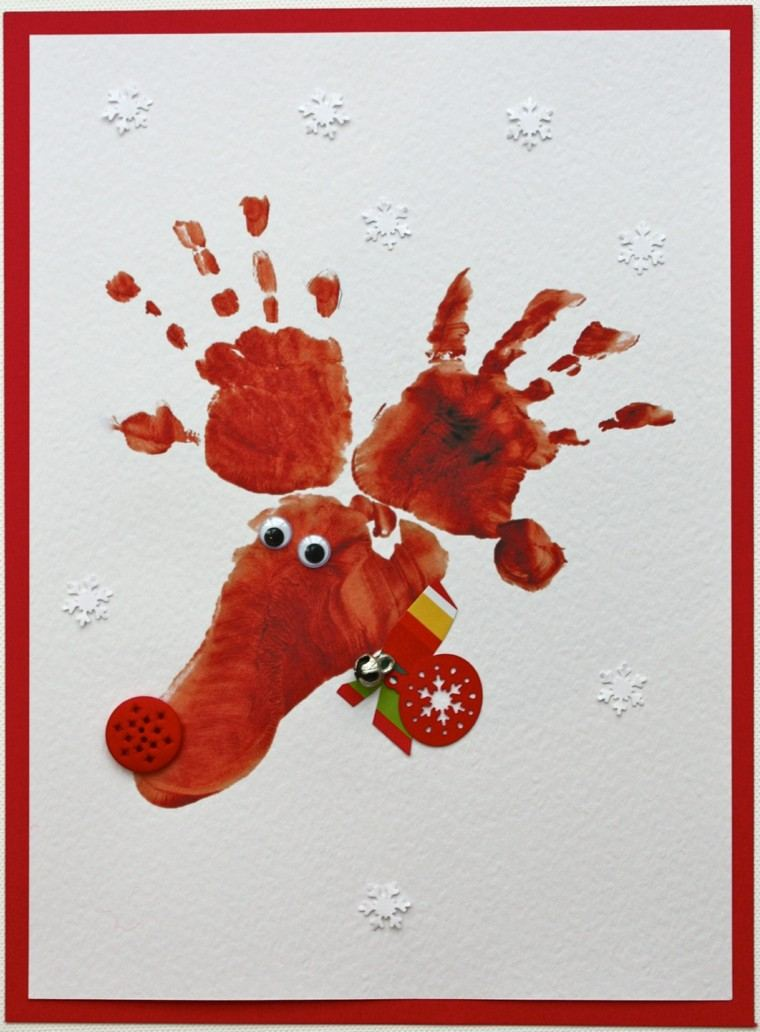 reno navideño manos pie