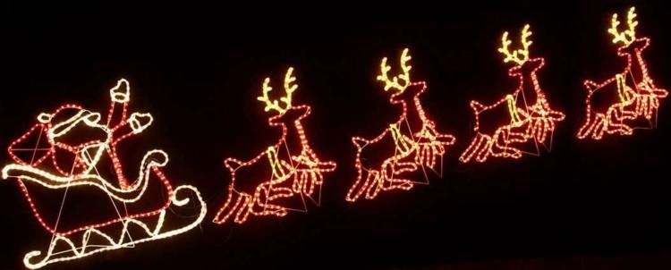 renos santa decorado volando infantil