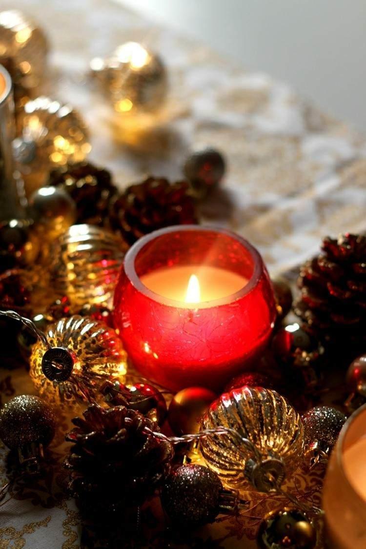 romantico mesas decorado fuego rojo