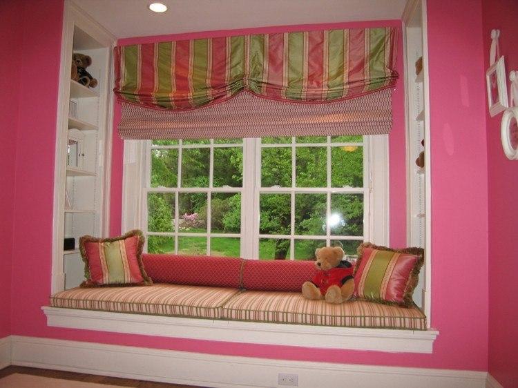 rosa cristales osos cortinas blanco estilo