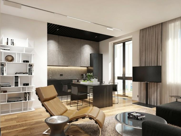 sala deseño estilo diferente moderno cortinas