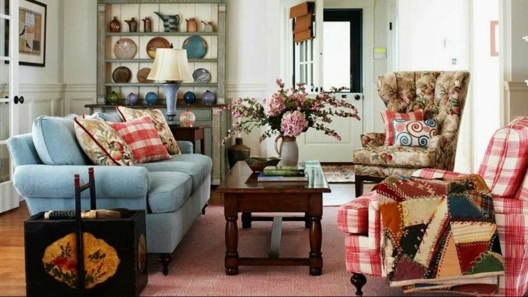 sala de estar estilo vintage