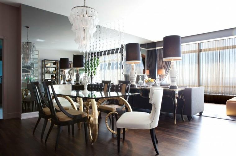 salon colmedor muebles lujosos vintage